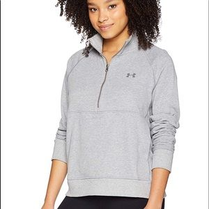 Women's Under Armour French Terry 1/2 Zip